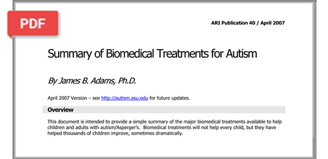Summary of Biomedical Treatments for Autism