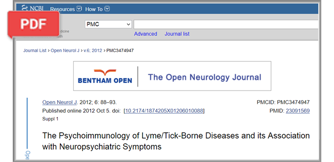The Psychoimmunology of Lyme/Tick-Borne Diseases and its Association with Neuropsychiatric Symptoms article