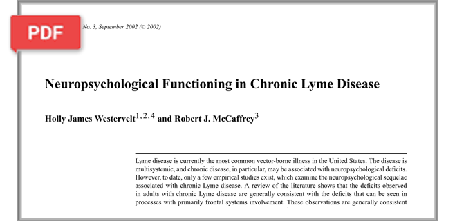 Neuropsychological Functioning in Chronic Lyme disease